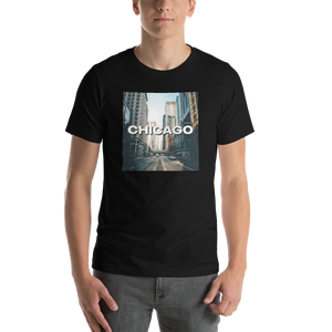 Black / XS Chicago Unisex T-Shirt by Design Express