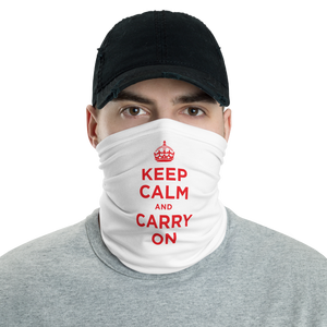 Default Title Red Keep Calm & Carry On Neck Gaiter Masks by Design Express