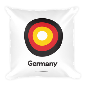 "Germany ""Target"" Square Pillow"