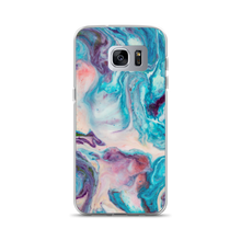 Samsung Galaxy S7 Edge Blue Multicolor Marble Samsung Case by Design Express