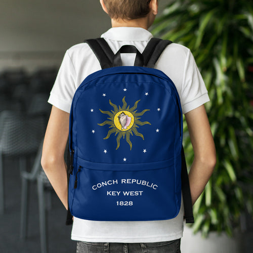 Default Title Key West Conch Republic Flag Allover Backpack by Design Express