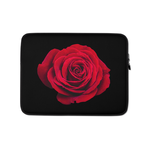 13 in Charming Red Rose Laptop Sleeve by Design Express
