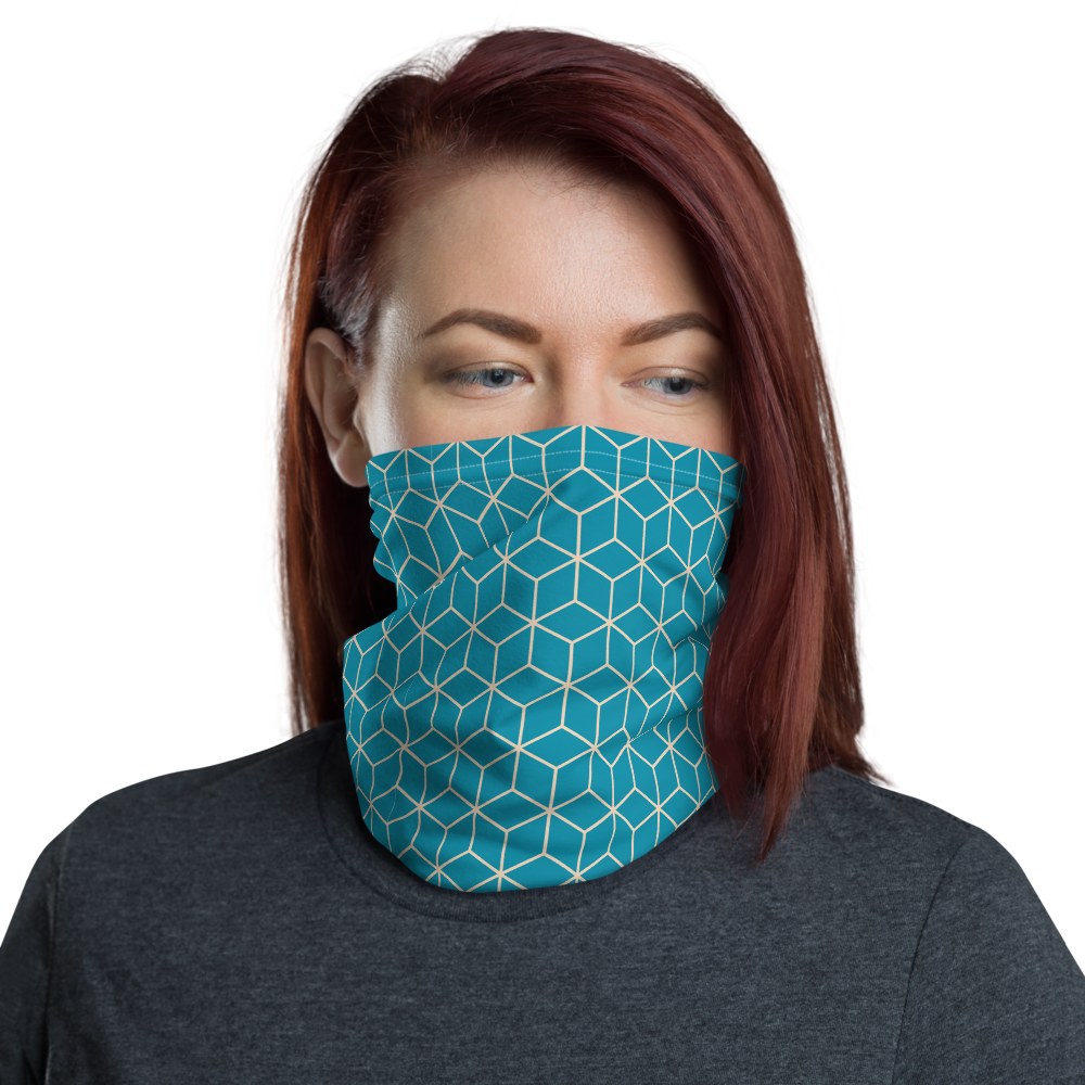 Default Title Diamond Turquoise Pattern Neck Gaiter Masks by Design Express