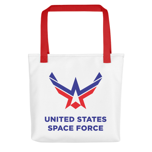 Red United States Space Force Tote bag Totes by Design Express