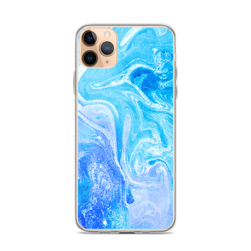 iPhone 11 Pro Max Blue Watercolor Marble iPhone Case by Design Express