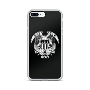iPhone 7 Plus/8 Plus United States Of America Eagle Illustration Reverse iPhone Case iPhone Cases by Design Express
