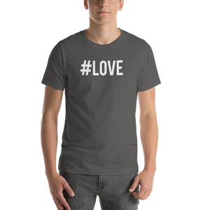 Asphalt / S Hashtag #LOVE Short-Sleeve Unisex T-Shirt by Design Express