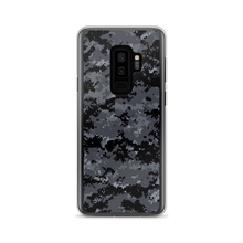 Samsung Galaxy S9+ Dark Grey Digital Camouflage Print Samsung Case by Design Express