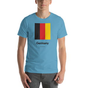 "Ocean Blue / S Germany ""Block"" Unisex T-Shirt by Design Express"