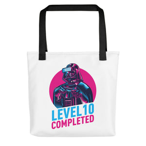 Black Darth Vader Level 10 Completed Tote bag Totes by Design Express