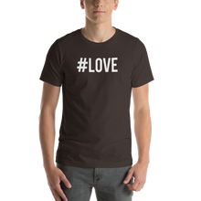 Brown / S Hashtag #LOVE Short-Sleeve Unisex T-Shirt by Design Express