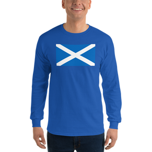"Royal / S Scotland Flag ""Solo"" Long Sleeve T-Shirt by Design Express"