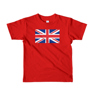 "Red / 2yrs United Kingdom Flag ""Solo"" Short sleeve kids t-shirt by Design Express"