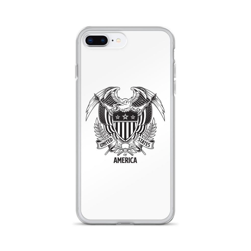 iPhone 7 Plus/8 Plus United States Of America Eagle Illustration iPhone Case iPhone Cases by Design Express