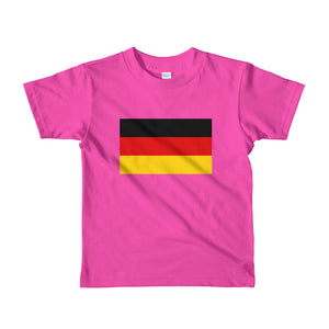 Fuchsia / 2yrs Germany Flag Short sleeve kids t-shirt by Design Express