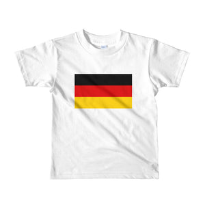White / 2yrs Germany Flag Short sleeve kids t-shirt by Design Express