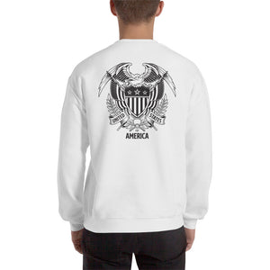United States Of America Eagle Illustration Backside Sweatshirt by Design Express