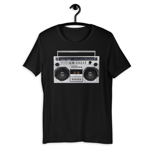 XS Boom Box 80s Unisex T-Shirt by Design Express