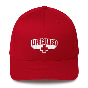 S/M Lifeguard Classic Red Structured Twill Cap by Design Express