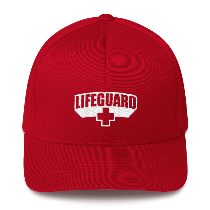 Lifeguard Classic Red Structured Twill Cap