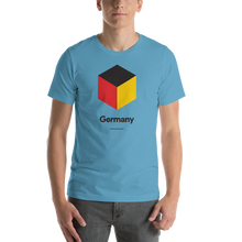 "Ocean Blue / S Germany ""Cubist"" Unisex T-Shirt by Design Express"