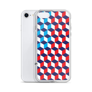 America Cubes Pattern iPhone Case