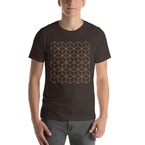 Brown / S Diamonds Patterns Short-Sleeve Unisex T-Shirt by Design Express