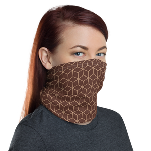 Diamond Brown Pattern Neck Gaiter Masks by Design Express