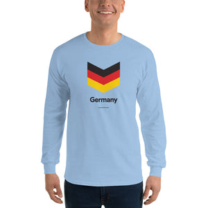 "Light Blue / S Germany ""Chevron"" Long Sleeve T-Shirt by Design Express"