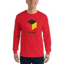 "Red / S Germany ""Cubist"" Long Sleeve T-Shirt by Design Express"