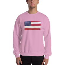 "Light Pink / S United States Flag ""Solo"" Sweatshirt by Design Express"