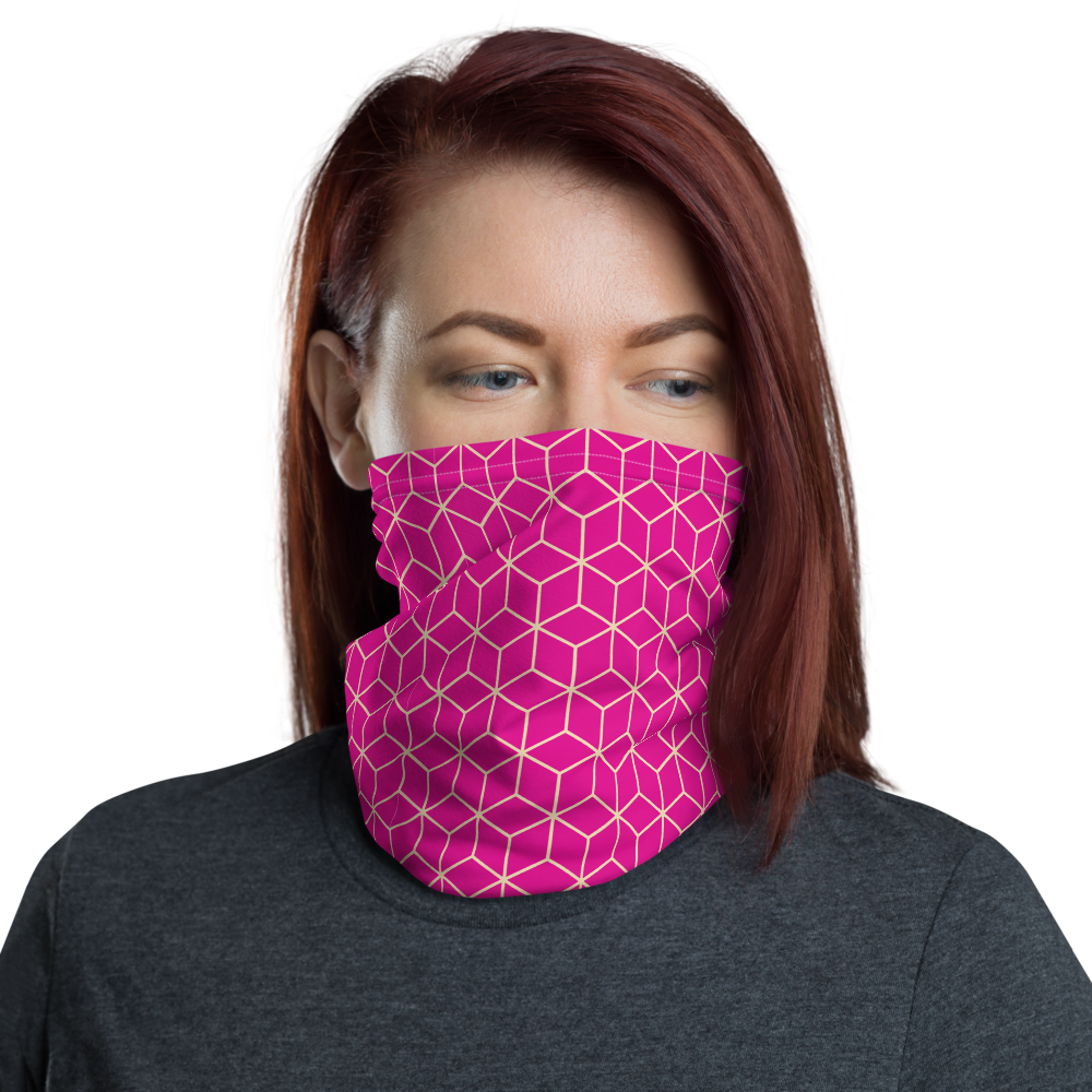 Default Title Diamond Magenta Pattern Neck Gaiter Masks by Design Express