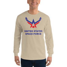 Sand / S United States Space Force Long Sleeve T-Shirt by Design Express