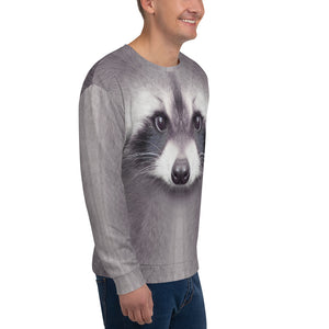 "Racoon ""All Over Animal"" Unisex Sweatshirt by Design Express"
