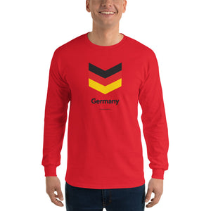 "Red / S Germany ""Chevron"" Long Sleeve T-Shirt by Design Express"