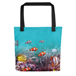 "Black Sea World 01 ""All Over Animal"" Tote bag Totes by Design Express"