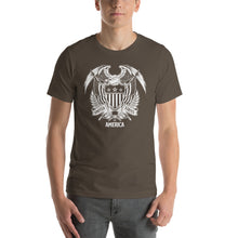 Army / S United States Of America Eagle Illustration Reverse Short-Sleeve Unisex T-Shirt by Design Express