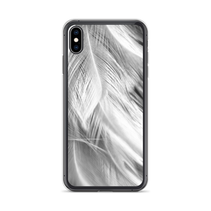 iPhone XS Max White Feathers iPhone Case by Design Express