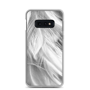 Samsung Galaxy S10e White Feathers Samsung Case by Design Express