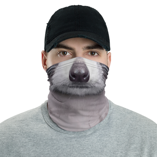 Default Title Racoon Face Neck Gaiter Masks by Design Express