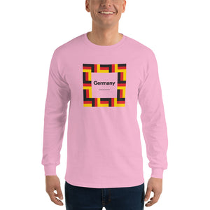 "Light Pink / S Germany ""Mosaic"" Long Sleeve T-Shirt by Design Express"
