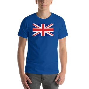 "True Royal / S United Kingdom Flag ""Solo"" Short-Sleeve Unisex T-Shirt by Design Express"