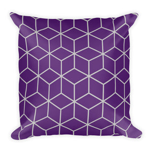 Default Title Diamonds Purple Square Premium Pillow by Design Express
