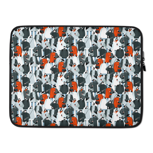 15 in Mask Society Laptop Sleeve by Design Express