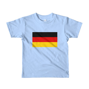 Baby Blue / 2yrs Germany Flag Short sleeve kids t-shirt by Design Express