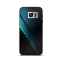 Samsung Galaxy S7 Edge Blue Black Feather Samsung Case by Design Express