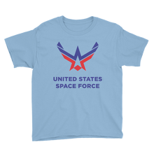 Light Blue / XS United States Space Force Youth Short Sleeve T-Shirt by Design Express