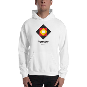 "White / S Germany ""Diamond"" Hooded Sweatshirt by Design Express"