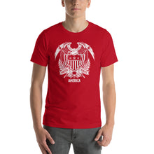 Red / S United States Of America Eagle Illustration Reverse Short-Sleeve Unisex T-Shirt by Design Express