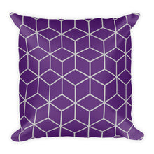 Diamonds Purple Square Premium Pillow by Design Express